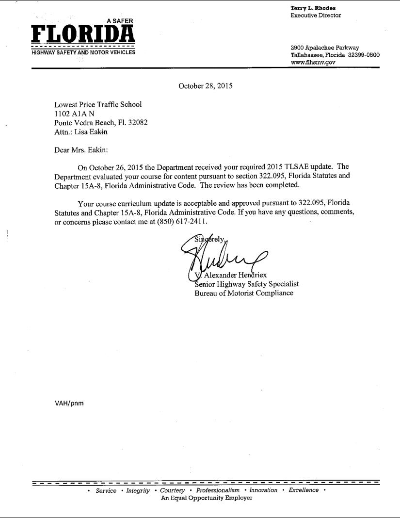 DMV Authorized Traffic School